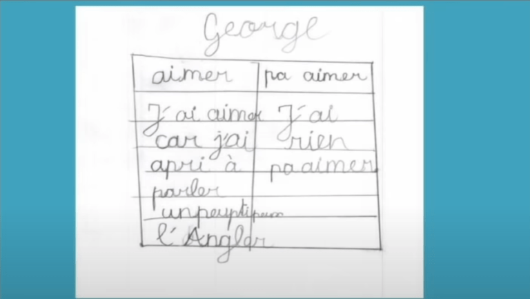 cours d'anglais en CE2 avec KOKORO lingua vu par George, élève