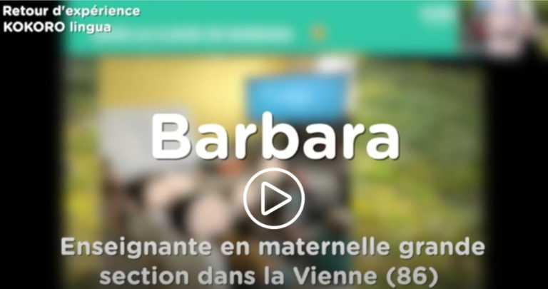 L'anglais en maternelle dans la classe de grande section de Barbara