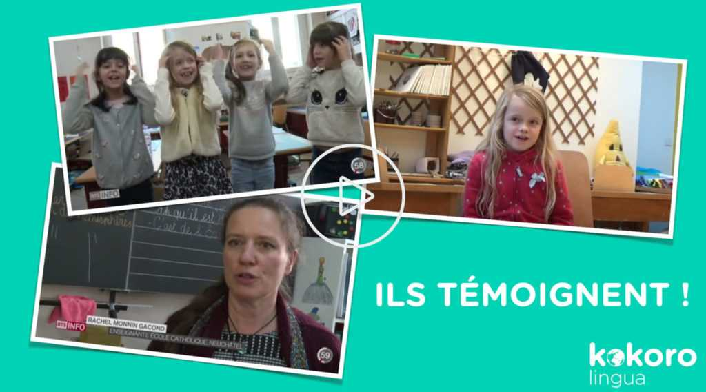 Témoignages d'enfants qui apprennent l'anglais avec KOKORO lingua