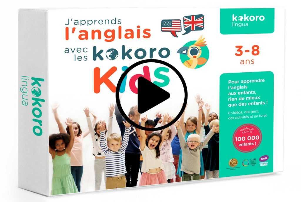 Le coffret enfant pour apprendre l'anglais par vidéo en s'amusant